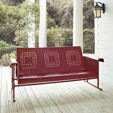 crosley bates sofa glider veranda crosley bates metal outdoor 5 ft glider sofa hayneedle