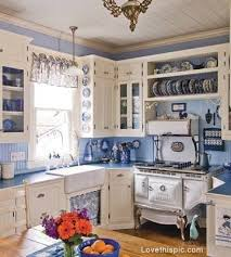 White Blue Kitchen Blue U0026 White Antique Kitchen Pictures Photos And Images For