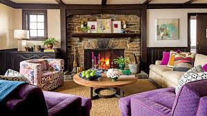 Purple Living Room by 13 Achievable Ideas Inspired By A 1926 Tudor Southern Living