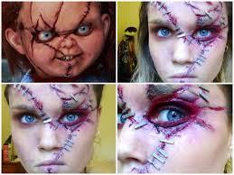 Makeup Tutorial Halloween by Chucky Halloween Makeup Tutorial Youtube