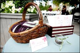 basket for wedding programs a garden wedding to remember mazelmoments