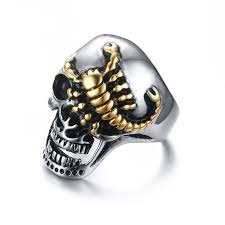 man rings images Skull scorpion ring silver gold road to man jpg