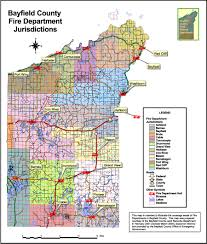 Northern Wisconsin Map by Bayfield County Wi Official Website