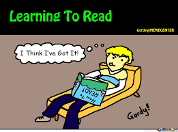 How To Read Meme - learning to read by gordy meme center