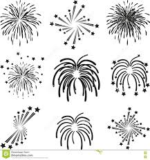 fireworks explosion template collection stock vector image