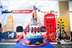 big company blog british themed 1st birthday