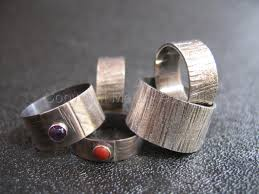 metal rings jewelry images Jewelry quot textured silver rings quot original art by metal aesthetics jpg