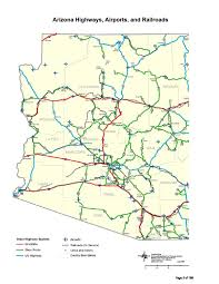 Arizona Map With Cities And Towns by Transportation Archives Government Affairs