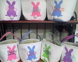 personalized bunny easter basket easter bunny basket etsy