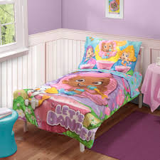 nickelodeon 4 piece toddler u0027s bed set bubble guppies