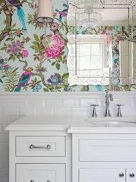 Wallpapered Bathrooms Ideas 86 Best Wallpaper Images On Pinterest Bathroom Ideas