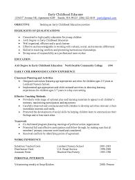 early childhood educator resume samples http resumesdesign com