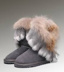 clearance ugg toddler boots ugg mini bailey bow toddler ugg fox fur boots 8288 grey