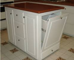 Kitchen Island With Wheels White Kitchen Cart With Trash Pull 279 99 Use For My Folding