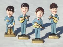 beatles cake toppers beatles bobblehead plastic cake topper figures 60s vintage bobble