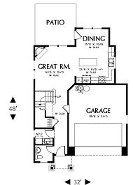 craftsman style house plan 3 beds 2 50 baths 1665 sq ft plan 48 499