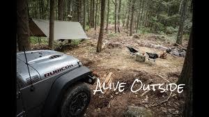 jeep hammock camping jeep camping youtube