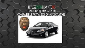 how to replace pontiac g6 key fob battery 2009 2010 youtube