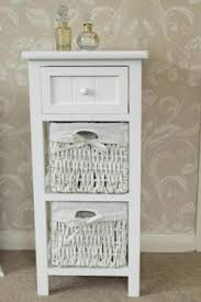 White Bathroom Storage Cabinet With Drawer White Wicker Bathroom Storage My Web Value