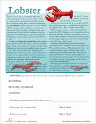 marine life facts year 3 comprehension worksheets education com
