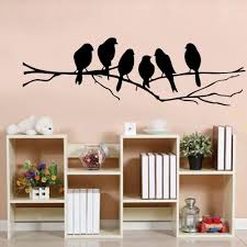 diy office furniture reviews online shopping diy office 85 26cm diy wall stickers decal removable black bird tree branch art home mural wall sticker home living room office decoration