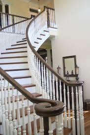 Modern Banister Ideas Architecture Bennett Stair Company With White Wood Railing And