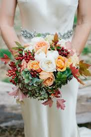 wedding bouquet seasonal autumn wedding flowers ideas