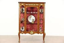 Antique Brass Display Cabinet Mahogany Antique Display Cabinets Ebay