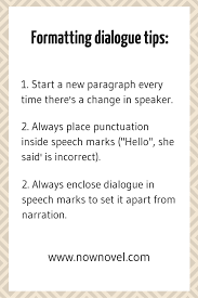 quotation marks before or after period uk how to write dialogue in a story 7 steps now novel