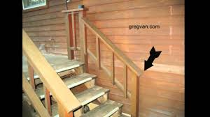 Wooden Banister Rails Watch This Video Before Building A Deck Stairway Handrail Youtube