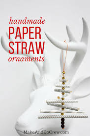 Homemade Christmas Decorations With Paper Diy Christmas Ornament Tutorial Using Paper Straws