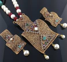 big size necklace images Kundan pendant set big size indian kundan islamic and gold jpg