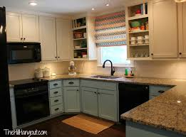 kitchen redo turquoise bottom white uppers house dreams