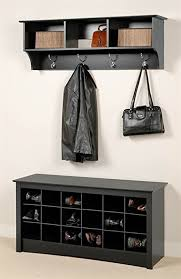 amazon com entryway wall mount coat rack w shoe storage bench in