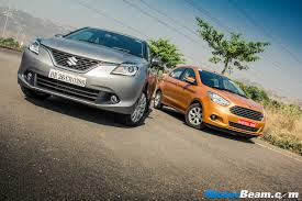 maruti baleno vs ford figo comparison shootout