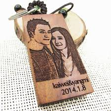 personalized wooden keychains free engraved photo personalized keychain wooden rectangle key