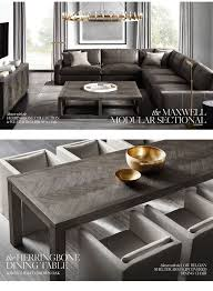 restoration hardware the herringbone collection designed by theo