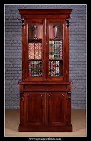 Narrow Mahogany Bookcase Narrow Mahogany Bookcase Collinge Antiques