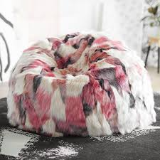rose taylor luxe faux fur beanbag