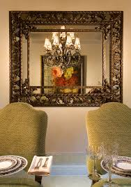 mirror in dining room interior design dining room traditional with
