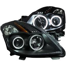 nissan altima yellow engine light anzo usa nissan altima 08 13 2dr projector headlights black