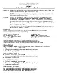 Example Of Functional Resume For A Student Functional Resume For College Student Free Resume Example And