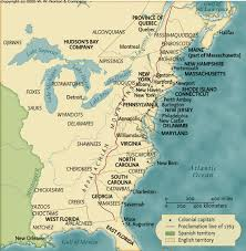 Colonial America Map by Maps Charts U0026 Graphs