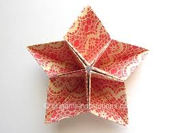 cara membuat origami kusudama origami kusudama 5 pointed star folding instructions