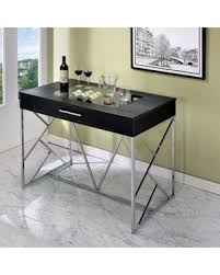 contemporary counter height table deal alert furniture of america britanya contemporary style slide