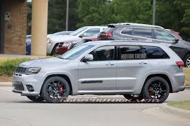 Jeep Spy Shots 2018 Jeep Grand Cherokee Trackhawk Spy Shots Youtube Intended For