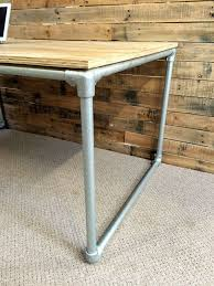 Build A Wood Desk Top by Diy Plywood Desk With Pipe Frame Plans To Build Your Own
