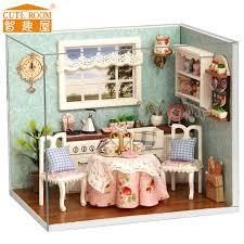 dolls house kitchen furniture diy doll house kitchen dollhouse wooden miniature miniatura building