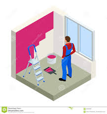 People Painting by People Painting Walls Clip Art