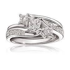 princess cut white gold engagement ring princess cut engagement ring in 14k white gold
